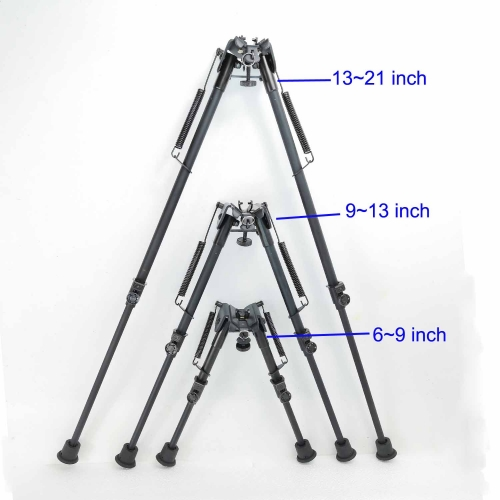 6-9,9-13,13-21 Inch Harris Style Bipod Spring Return Adjustable Locked