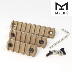 5,7,9 Slot Picatinny Weaver Rail Section For M-LOK Handguard (21mm) Tan Color