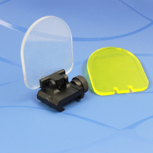 Foldable Airsoft Sight Scope Lens Screen Protector Cover Shield Rail Mount