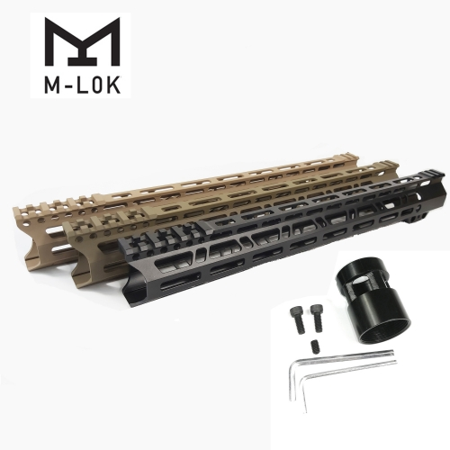 15 Inch Clamp Mount Type M-LOK Handguards Edge CNC Chamfering For AR15 (.223/5.56)
