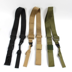 The New Heavy Nylon Duty Gun Belt Strap Tactical Two Points Sling Outdoor Airsoft Mount Bungee Rifle Sling