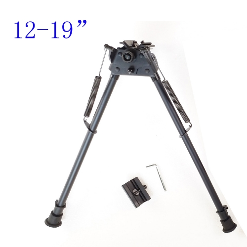 12-19 Inch Harris Style Bipod Light Weight design Spring Extending W/O Adapter