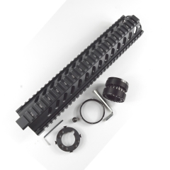 12.6 Inch Free Float Quad Rail Handguard For .223/5.56(AR15) Spec .Front end cap Optional