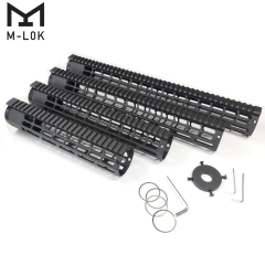 10,12,15,17 inch Ultra Lightweight M-LOK Free Floating Handguard with Monolithic Top Rail Fits AR10/ .308