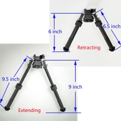 "Atlas style Bipod 360-degree Adjustable 6.5-9"" Tactical Rifle Bipod Pivot Rotating"