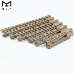 7/9/10/12/13.5/15 Inch Clamp Mount Type M-LOK Handguards Edge CNC Chamfering For AR15 (.223/5.56)  Tan  Color