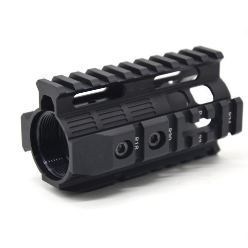 Aluminum Hard Coat Anodized GT Style 4 inch Handguard Rail System For AEG M4/M16