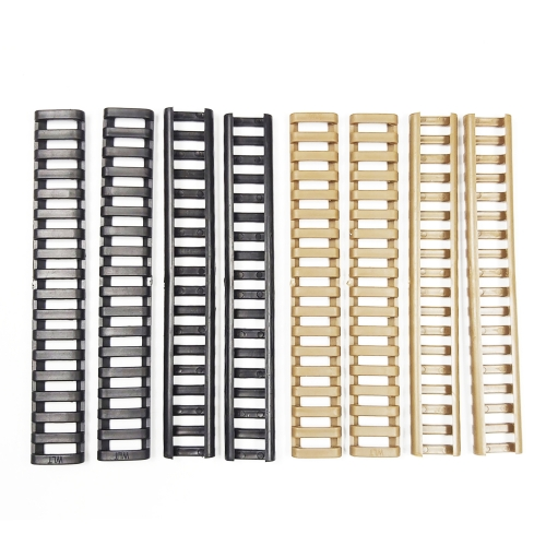 4 pcs / Set Handguard Protector Resistant Picatinny Weaver Ladder Rubble Rail   Cover Black/Tan