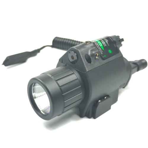 Tactical Red /Green Laser Sight & LED Flash Light Combo Flashlight Fit 20 mm Picatinny Rail Mount