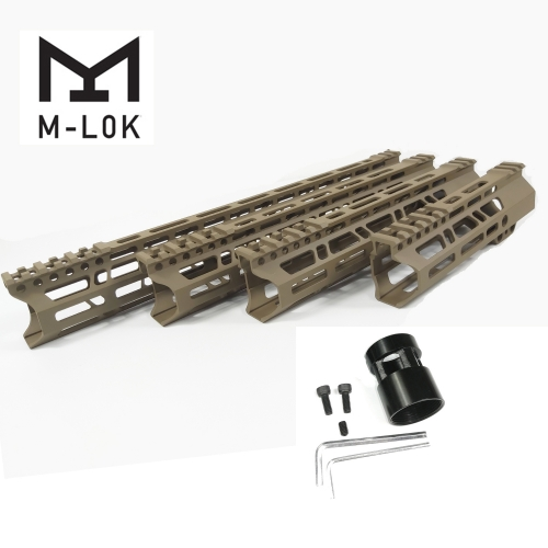 7/10/12/15 Inch Clamp Mount Type M-LOK Handguards Edge CNC Chamfering For AR15 (.223/5.56) Flat Dark Earth Color