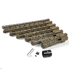 7/9/10/12/13.5/15 Inch Clamp Mount Type M-LOK Handguards Edge CNC Chamfering For AR15 (.223/5.56) Flat Dark Earth Color