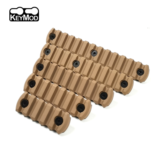 5,7,9,11,13 Slot Aluminum Picatinny Section Rail for KEYMOD  handguard Tan color