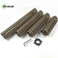 7,10,12,15 inch Free Float Quad Rail Handguards Flat Dark Earth Color For AR15 Handguards