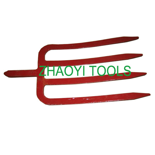 steel shank forging flat tines spading impact pitchforks