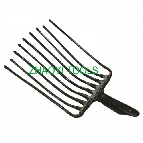 9 tines forging hay railway forks