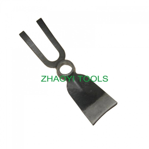 2T flat top round hole forging garden digging weeding fork-hoe