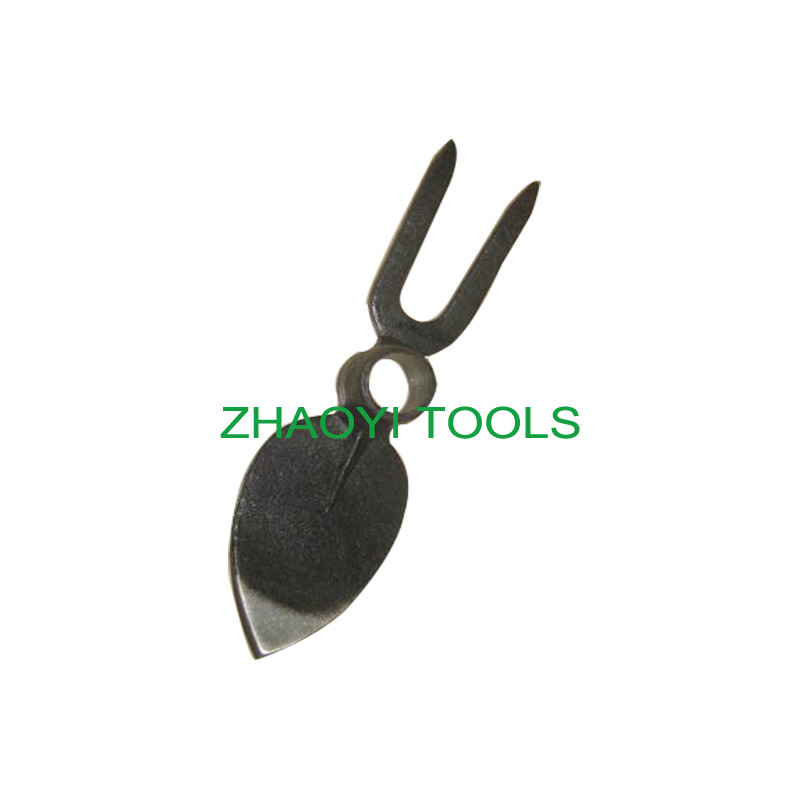 2T peach type round hole forging digging weeding fork-hoe