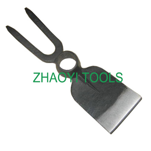 2T tip tines round hole forging digging weeding garden fork-hoe