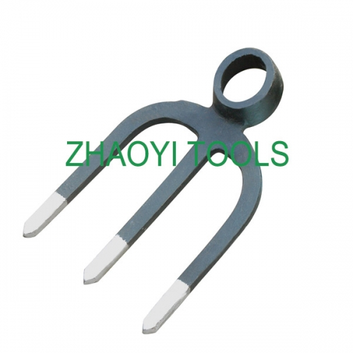 3T forging oval hole impact digging fork-hoe