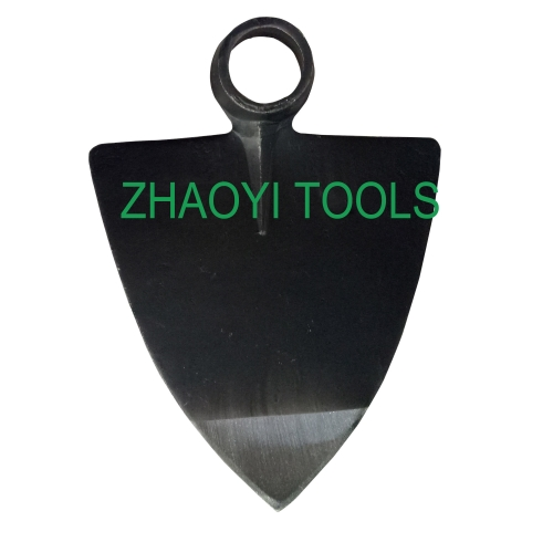 round hole triangle type forging grub digging spading hoe