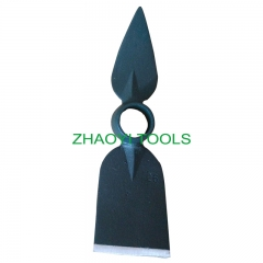 peach type+cutting blade round hole forging digging weeding garden hoe