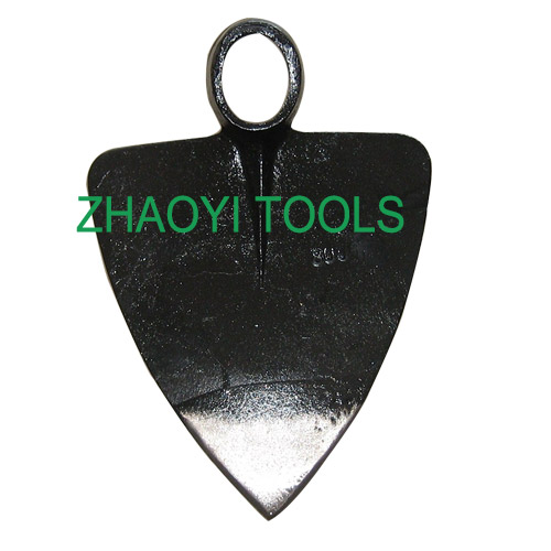 oval hole triangle type forging spading grub digging hoe