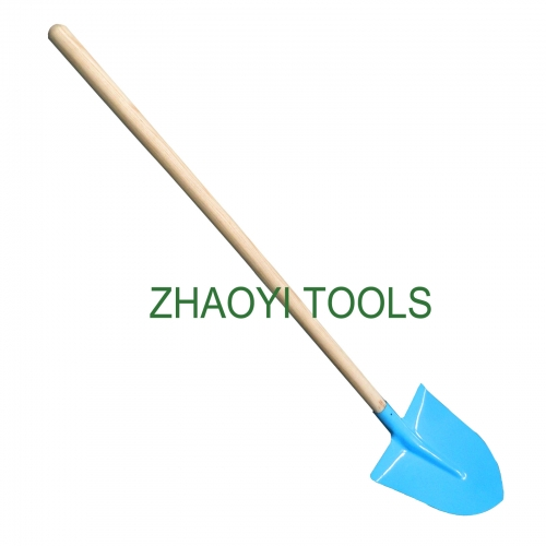 Europe type straight wood handle point head digging garden soil earth shovel spades