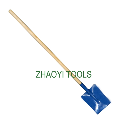 Europe type straight wood handle digging garden soil earth shovel spades