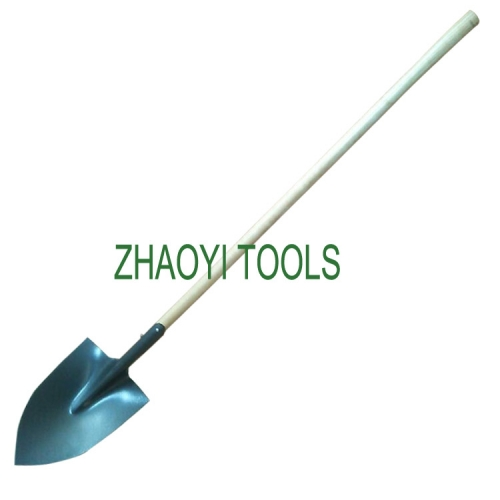 straight wood handle Irish point head digging garden soil earth shovel spades