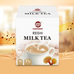 Milk Tea Mixed with Reishi Mushroom Ganoderma Extract Powder, Instant Tea Powder