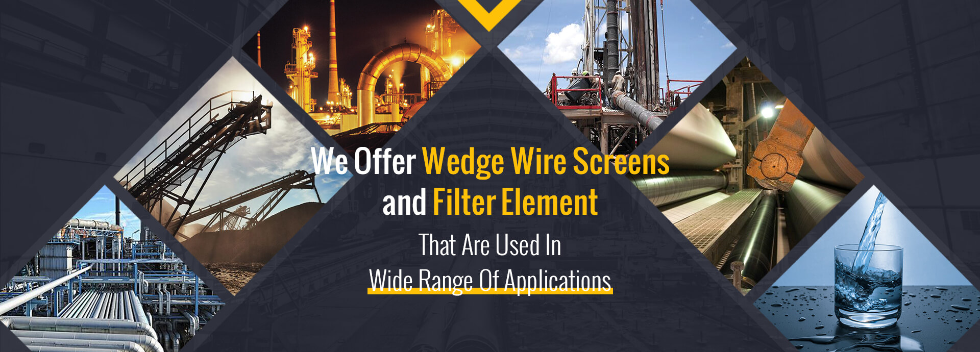 application of our wedge wire and filter product