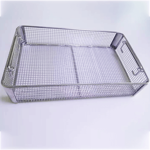 Stainless Steel Wire Mesh Sterilization Basket