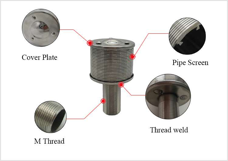 wedge wire filter nozzle