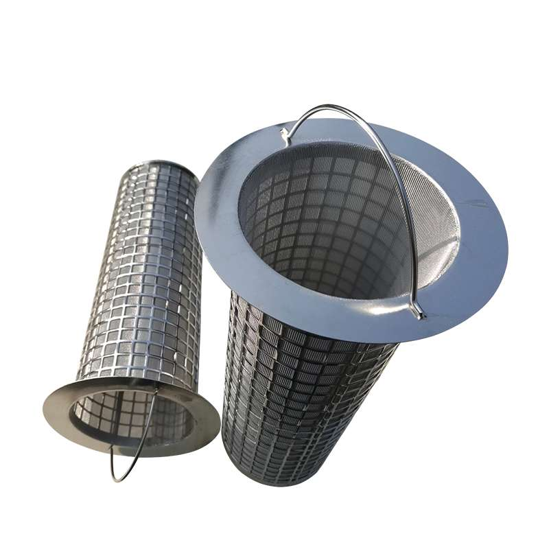 stainless steel Basket Wire Mesh Filter