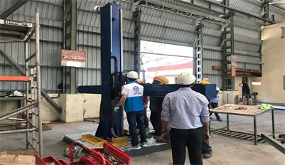 Assembly and commissioning polishing machine for Indian customers