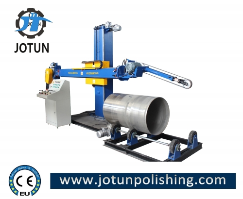Sanding belt tank body grinding polishing machine for stainless steel