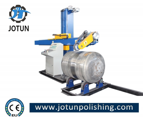 China professional stainless steel tank shell buffing machine