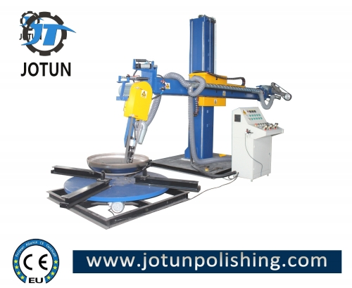 Stainless steel metal dish end automatic polishing machine