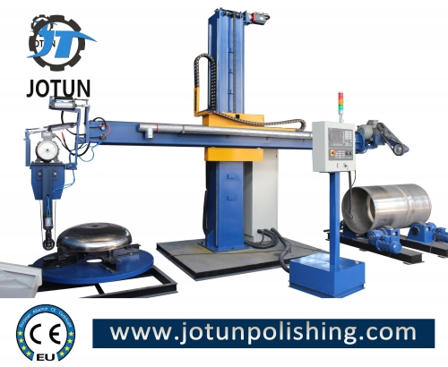CNC stainless steel polishing machine for tank and dish end