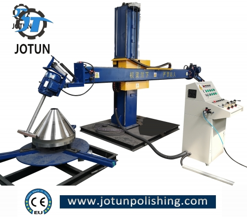 Tank and dish end polishing machine