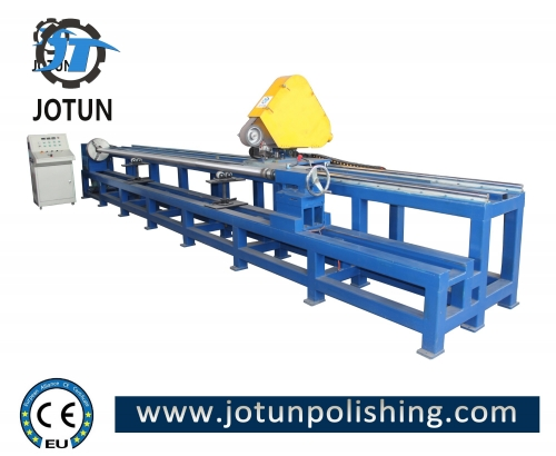 Round tube polishing machine