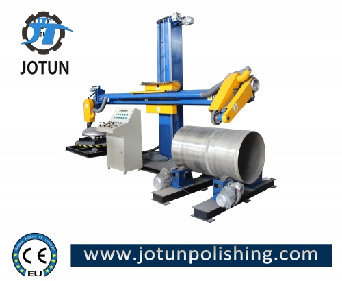 Metal shell surface grinding polishing machine