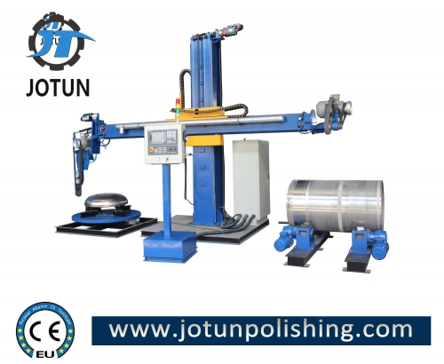 CNC metal surface grinding polishing machine for stainless steel