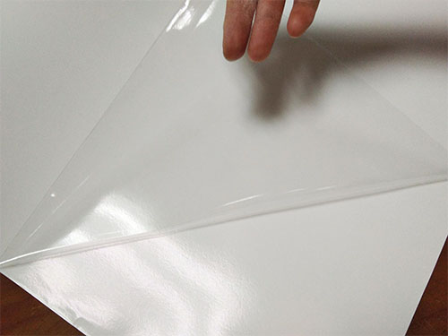 Printable clear self adhesive vinyl