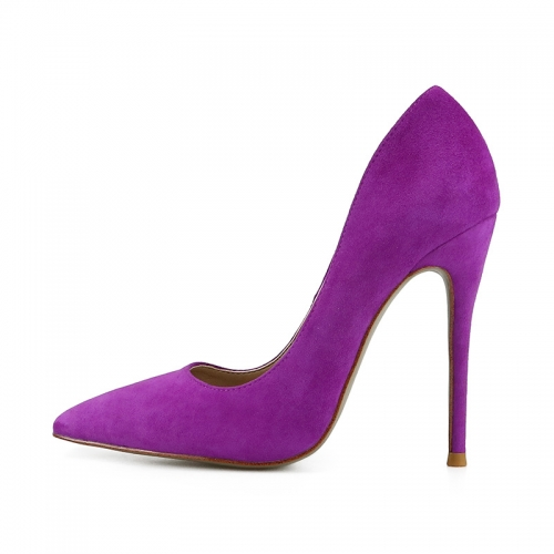 Chloe Purple Suede Leather Classical Pumps