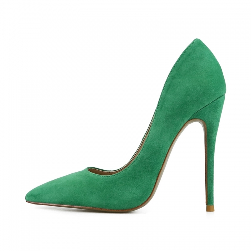 Chloe Green Suede Leather Classical Pumps