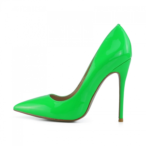 Chloe Green Patent Leather Classical Pumps