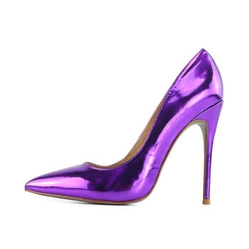 Chloe Purple Mirror Leather Classical Pumps