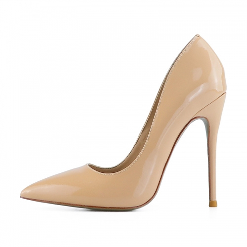 Chloe Nude Patent Leather Classical Pumps