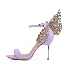 Elaine Pink Glitter Fabric Wings Sandals